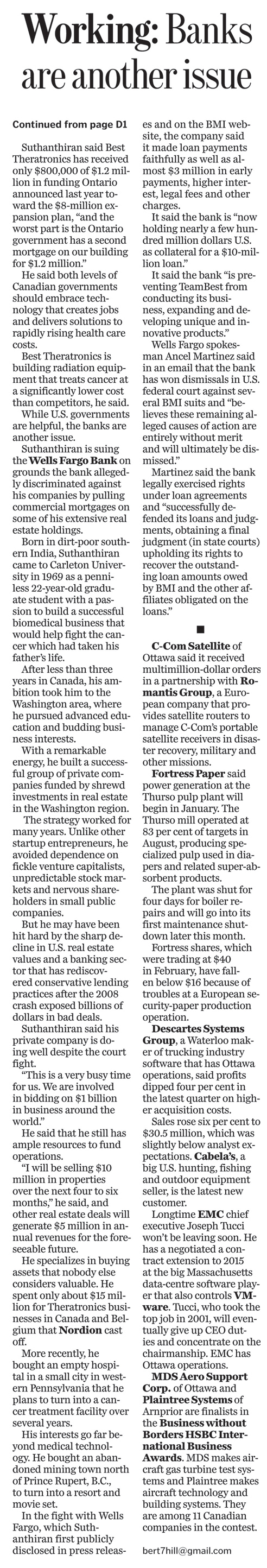 Ottawa Citizen Article